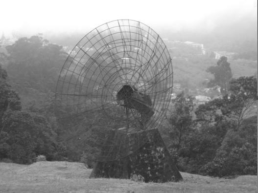 The 20 feet dish at the Kodaikanal observatory.