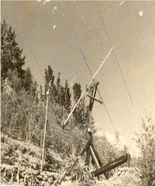 25 MHz antenna system used for solar studies at the Kodaikanal observatory during the early 1970s.